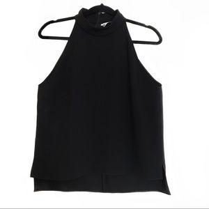 Zara Black High Neck Sleeveless Top